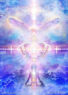 Visionary Art Gallery by Daniel B. Dragons, Keys Art, Image Of The Day, Meditation, Visionary Art, Angel Art, Canvas Poster, Spiritual Inspiration, Sacred Geometry