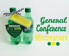 General Conference Motivators with FREE printable tags. From Marci Coombs Blog