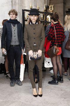 Fotos street style Paris Fashion Week: Miroslava Duma