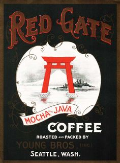 Red Gate Coffee. #crateart