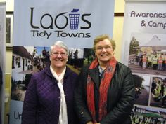 Noreen Byrne (Ballacolla Tidy Towns), Chair of Laois Federation of Tidy Towns pictured with Julia Booth (Emo Tidy Towns), Vice Chair of Laois Federation of Tidy Towns