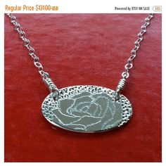 SALE English Rose Sterling Silver Necklace Handmade ($79) ❤ liked on Polyvore featuring jewelry and necklaces