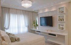 Room decor quarto clean 19 Ideas for 2019 Bedroom Tv Wall, Dream Bedroom, Home Bedroom, Modern Bedroom, Bedroom Decor, Bedroom Ideas, Master Bedroom, Living Room Tv, Home Room Design
