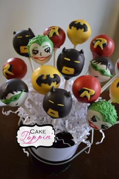 Lego Batman Party Food Ideas Batman Cake Pops Visit www.fireblossomca - Batman Party - Ideas of Batman Party - Lego Batman Party Food Ideas Batman Cake Pops Visit www.fireblossomca for more party ideas! Batman Cake Pops, Batman Cakes, Batman Party Foods, Superhero Party, Cute Cakes, Yummy Cakes, Beautiful Cakes, Amazing Cakes, Joker Cake