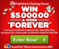 WIN $5,000 Every Week FOR LIFE from PCH! - iSaveA2Z.com am the next winner