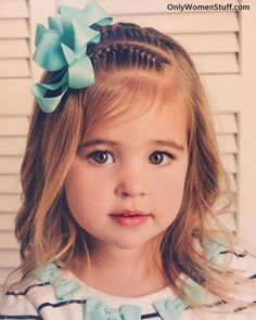 15 Cute and Easy Kids Hairstyles Ideas for Little Girls hair cutting style for girl child - Hair Style Girl Kids Short Haircuts, Little Girl Short Hairstyles, Easy Toddler Hairstyles, Cute Hairstyles For School, Cute Simple Hairstyles, Girl Haircuts, Trendy Hairstyles, Braided Hairstyles, Festival Hairstyles