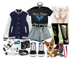 """""""scully ft. jack - dean & jersey's gender reveal party"""" by kinathegreat ❤ liked on Polyvore featuring Ruffwear, Therapy, Corgi, Vans, Sperry, Diesel, Accessorize, Jewel Exclusive, Topshop and Maybelline"""