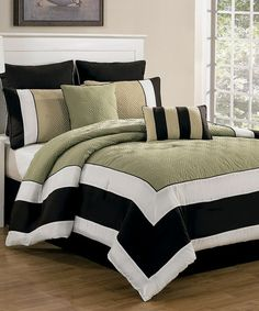 Sage Chocolate Spain Quilted Overfilled Comforter Set