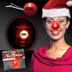 Wholesale Promotional Products, Red Nose, Light Up, Movie Posters, Xmas, Christmas, Google Search, Party, Decor