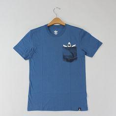 Camiseta Adidas Pocket Shark Azul