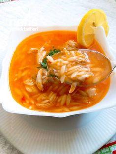 Domatesli Tavuklu Arpa Şehriye Çorbası