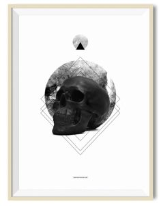 Circle Skull 02 - A3 poster - Another Poster Shop