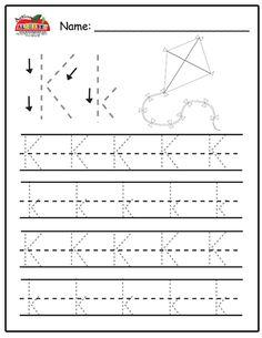 Free Prinatble Aphabet Pages ~Preschool Alphabet Letters Trace Alphabet Tracing Worksheets, Alphabet Writing, Preschool Writing, Tracing Letters, Preschool Lesson Plans, Preschool Letters, Alphabet Worksheets, Learning Letters, Alphabet Activities