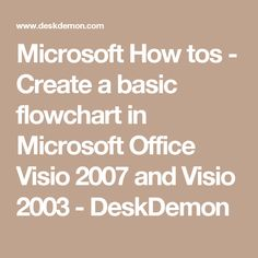 how to create a flowchart in microsoft office word 2007