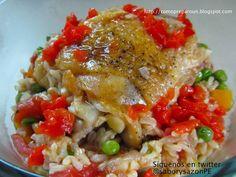 Como preparar un arroz con pollo al cilantro - Receta - Recipes