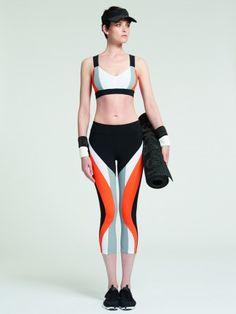 White and Orange Huki sports bra