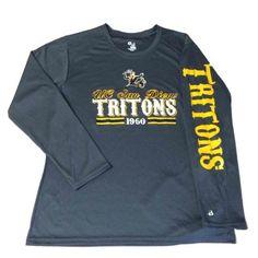 6d4f30c14 UC San Diego Tritons Badger Sport WOMENS Gray LS Crew Perfomance T-Shirt (M)