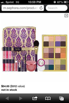 Tarte Carried Away palette!! I so want this!!