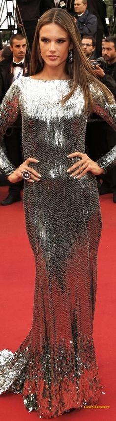 Alessandra Ambrosio slinks onto the Cannes Red Carpet   LadyLuxuryDesigns