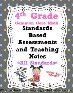 Standards Based Assessment: 4th Grade Math *ALL STANDARDS*. $10 but might be worth it.
