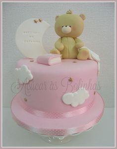 Baby Cakes, Baby Shower Cakes, Girl Cakes, Fondant, Mini Tortillas, Teddy Bear Cakes, Cake Design, Bear Theme, Baby Lamb