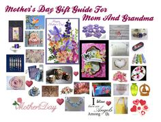 """Mother's Day Gift Guide For Mom And Grandma"" by patchworkcrafters ❤ liked on Polyvore featuring art"