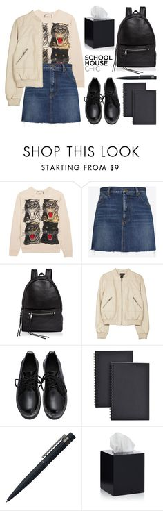 """I Don't Even Do My Homeworks"" by arwitaa ❤ liked on Polyvore featuring Gucci, Yves Saint Laurent, Rebecca Minkoff, Joie, Universal, John Lewis and Jonathan Adler"
