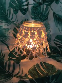 Photophore Macrame, Diy, Table Lamp, Lighting, Home Decor, Jar Candle, Home, Table Lamps, Decoration Home
