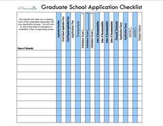 Graduate school application checklist to stay organized