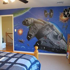 this mural would be freakin amazing for Gunner's room.....or my media room