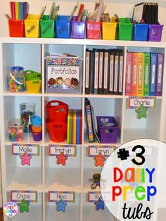 daily teacher prep hack plus 14 more classroom organization hacks to make teaching easier that every preschool, pre-k, kindergarten, and elementary teacher should know. FREE theme box labels too!