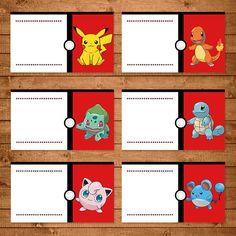 pokemon food tent labels red white pokemon food labels place setting labels pokemon party favors pokemon printables