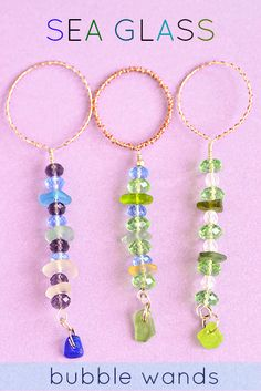 DIY Sea Glass Bubble Wands