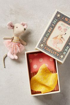 """Little Sister Mouse In A Box $26 - anthropologie.com;  2""""H, 4.25""""W, 3.25""""W; Got it!"""