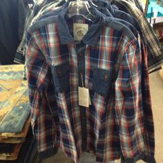 Men's designer shirts at 50% off at Off Fourth Outlet Store, 329 E 6th St, Tucson.