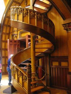 Staircase in a church; Montreal.