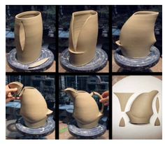 Very cool thrown and altered jug Have to give this a go!