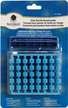 Walnut Hollow Clay Text Embossing Set- $10.25 (save $0.74)