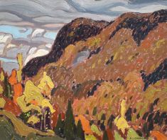 A.J. Casson - Forks Of The Credit 10 x 12 Oil on panel (1929) Forks, Oil, Painting, Bobby Pins, Painting Art, Paintings, Painted Canvas, Drawings, Butter