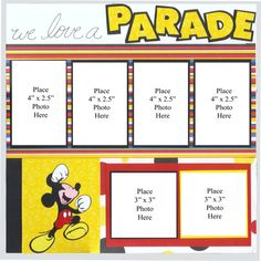 Disney Parade Two Page Scrapbook Layout