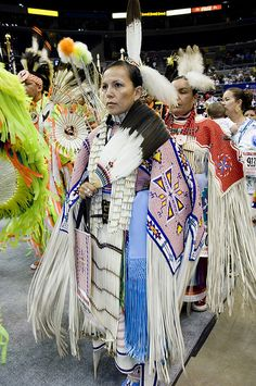Jodi Archambault-Gillete, Standing Rock Sioux, at 2005 Powwow by Smithsonian Institution, via Flickr