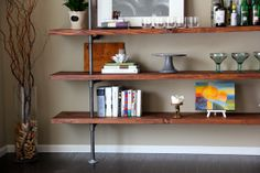 DIY Industrial Shelf (and a bit more of our kitchen on the house tour…) | Anne the Adventurer