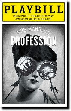 Playbill Cover for Mrs. Warren's Profession at American Airlines Theatre - Opening Night, Oct 3, 2010