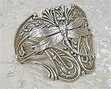 Art Nouveau Jewelry Dragonfly Half Cuff Bracelet Statement