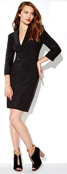 mark Follow Suit Dress & Buckle In Booties #fashion #booties #workstyle #officewear
