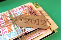 DIY Year's end card storage keepsake