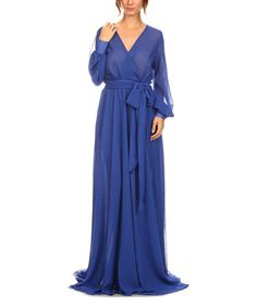 Look at this Blue Wrap Maxi Dress - Women & Plus on #zulily today!