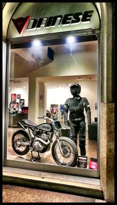 Dream's Tracker 600 IDM in Dainese Store in Rome. #style #fashion #bike #motorcycles #special #design #dainese #agv #caferacer #unique