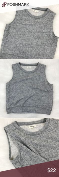 "Madewell | Grey Sweater Tank Top Grey sweater tank top. Size medium from Madewell. 100% Cotton. Bust: 36"" Length: 19"" Madewell Tops Tank Tops"