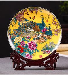 Buy ornaments ceramic peacock online - Buy ornaments ceramic peacock at a discount on AliExpress Mobile Cheap Ornaments, Peacock Art, Asian Decor, Decor Ideas, Gift Ideas, Beautiful Interiors, Decorative Plates, Home And Garden, Ceramics